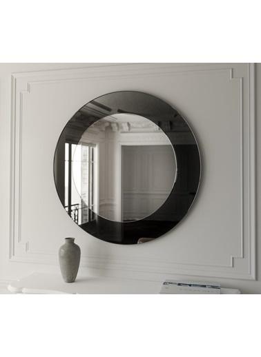 Chic Life Chic Life Alya Füme Kenarlı Dekoratif Yuvarlak Ayna 60 cm x 60 cm Füme